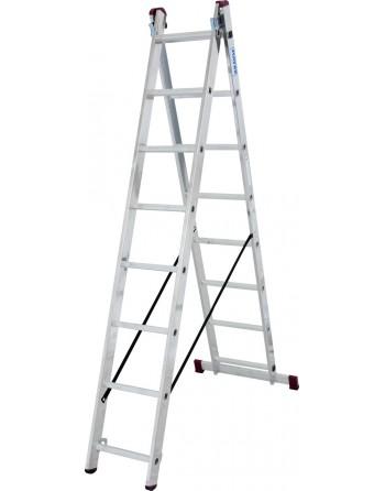 Drabina rozstawno-przystawna CORDA alu 2x8 stopni