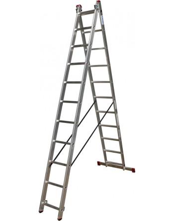 Drabina rozstawno-przystawna CORDA alu 2x11 stopni