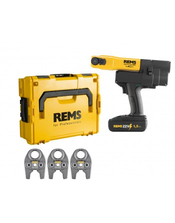 REMS Mini-Press 22 V ACC Basic-Pack L-Boxx Gratis (3 Cęgi zaciskowe)