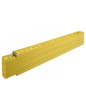 Miara składana 2m STABILA 417 buk, żółta, sekcji 10