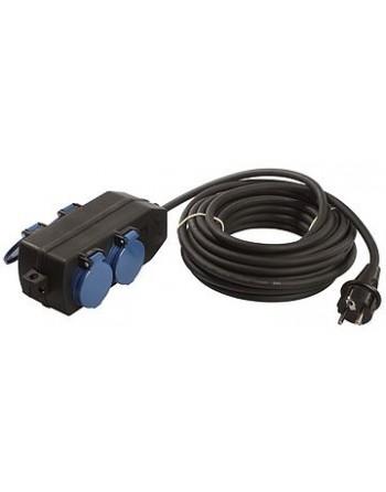 Przedłużacz 10 m AS-SCHWABE 3G1.5 guma
