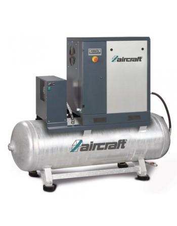 A-PLUS 11-10-500 K Sprężarka śrubowa z napędem pasowym zabudowana na zbiorniku sprężonego powietrza z osuszaczem chłodniczym 10