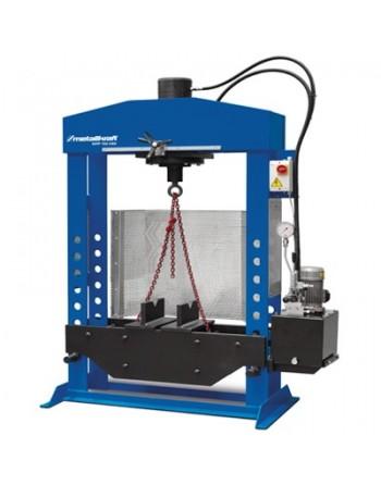 Warsztatowa prasa hydrauliczna WPP 100 HBK z ruchomym tłokiem i dwiema szybkościami posuwu tłoka
