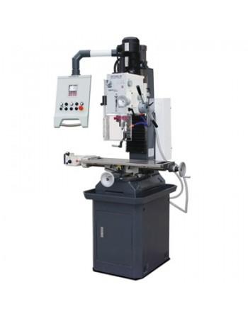 Wiertarko-frezarka MB 4P z cyfrowym wskaźnikiem położenia i podstawą maszyny z żeliwa