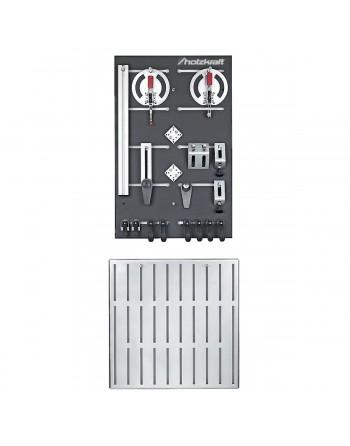 System zaciskowy do stołu MAT 200 H i MAT 300 K – zestaw z szyną oporową 720 mm