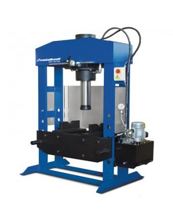 Warsztatowa prasa hydrauliczna WPP 160 HBK z ruchomym tłokiem i dwiema szybkościami posuwu tłoka