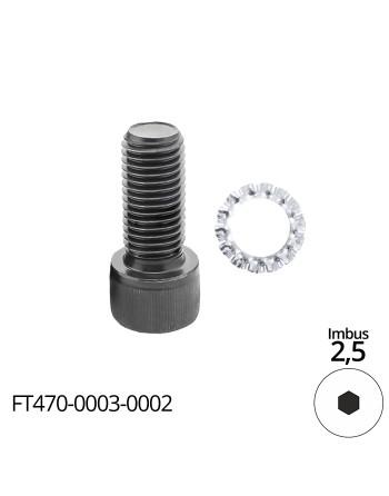 Śruba mocująca - śruba imbusowa M3x8 - do frezów trzpieniowych FT905