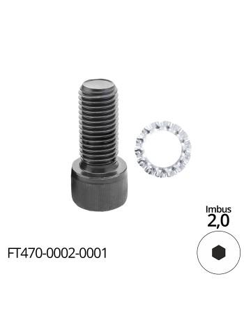 Śruba mocująca - śruba imbusowa M2,5x8 - do frezów trzpieniowych FT505