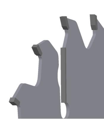 MULTIX PRO Plus 0450x70x4,6/3,2/18+4z GM 4(20x6) - piła/tarcza z HM do cięcia drewna świeżego na wielopiłach z dużym posuwem