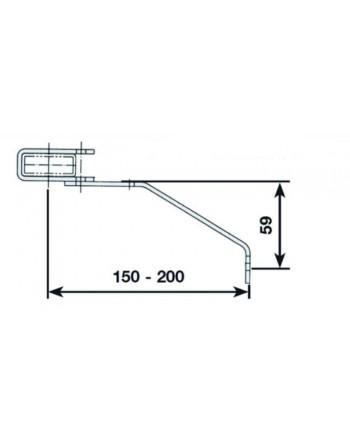 Kotwa murowa przestawna 150 - 200 mm - stal nierdzewna