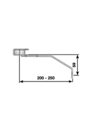 Kotwa murowa przestawna 200 - 250 mm - stal ocynkowana