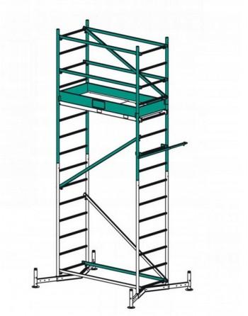 Pierwsza kondygnacja rusztowania ClimTec - wys. robocza 5 m
