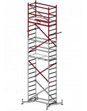 Druga kondygnacja rusztowania ClimTec - wys. robocza 7 m
