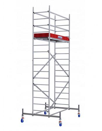 Aluminiowe rusztowanie jezdne ProTec - wys. robocza 5.30 m