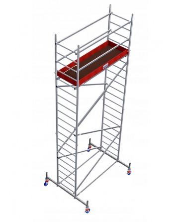 Aluminiowe rusztowanie jezdne ProTec - wys. robocza 6.30 m