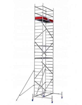Aluminiowe rusztowanie jezdne ProTec - wys. robocza 8.30 m