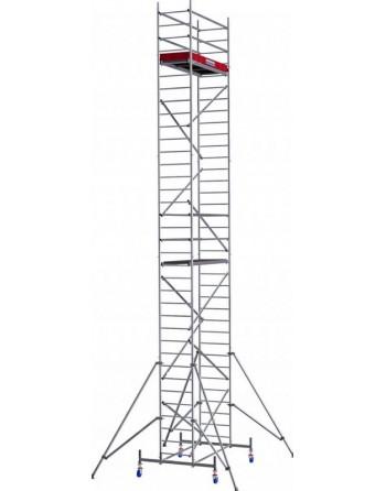 Aluminiowe rusztowanie jezdne ProTec - wys. robocza 10.30 m