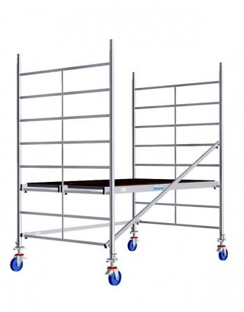 Aluminiowe rusztowanie jezdne o poszerzonej konstrukcji ProTec XXL - wys. robocza 2.90 m