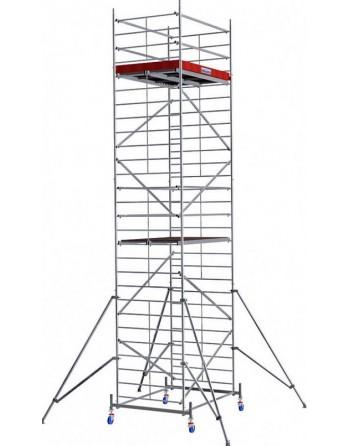 Aluminiowe rusztowanie jezdne o poszerzonej konstrukcji ProTec XXL - wys. robocza 8.30 m
