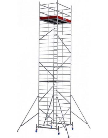 Aluminiowe rusztowanie jezdne o poszerzonej konstrukcji ProTec XXL - wys. robocza 9.30 m