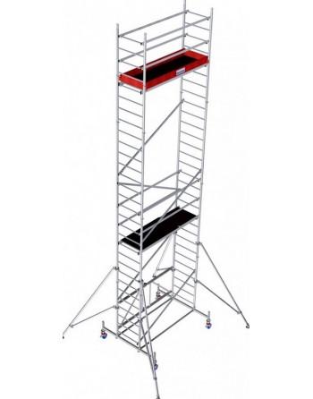 Aluminiowe rusztowanie jezdne składane ProTec XS - wys. robocza 8.80 m