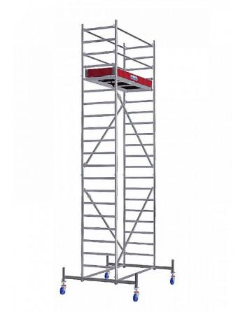 Rusztowanie jezdne Seria 10 - 2.0 x 0.75 m wys. robocza 6.40 m