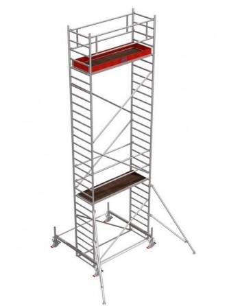 Rusztowanie jezdne Seria 100 - 2.0 x 0.75 m wys. robocza 8.40 m