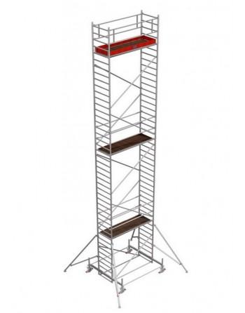 Rusztowanie jezdne Seria 100 - 2.0 x 0.75 m wys. robocza 12.40 m