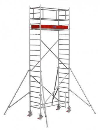 Rusztowanie jezdne Seria 1000 - 2.0 x 0.75 m wys. robocza 6.30 m