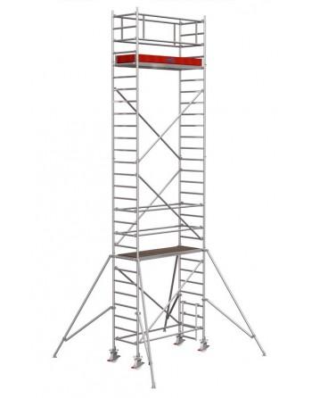 Rusztowanie jezdne Seria 1000 - 2.0 x 0.75 m wys. robocza 8.30 m