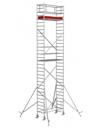 Rusztowanie jezdne Seria 1000 - 2.0 x 0.75 m wys. robocza 9.30 m