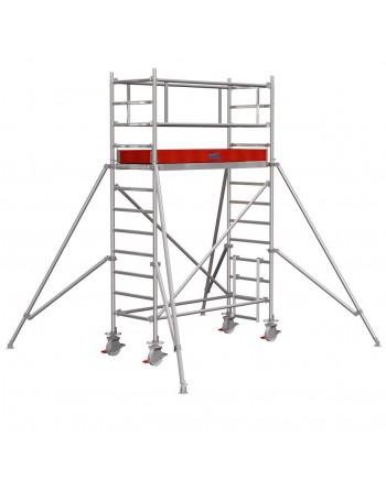 Rusztowanie jezdne Seria 1000 - 2.5 x 0.75 m wys. robocza 4.30 m